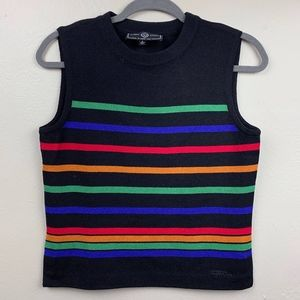 St. John Rainbow Striped Shell Tank Top Santana